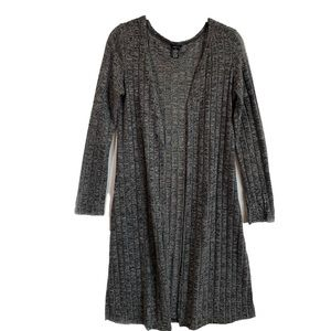 Rue21 Heather Gray Knit Open Front Duster Cardigan